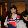 Elena is wearing Energy Au Pair apron