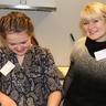 Iulia and Liudmyla in the kitchen