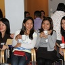 Time for some tea - Michelle, Jeniffer, Christine and their friend