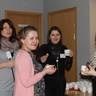 Girls are having coffee break