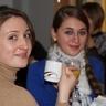Vita and Tetiana with refreshments