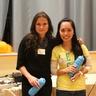 The winners - Malgorzata (Poland) and Annie (Philippines)