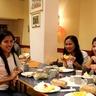 Enjoying the meal